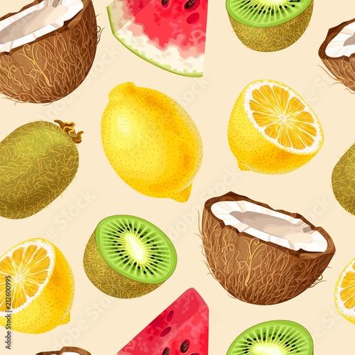 Seamless fruit pattern - 212600995