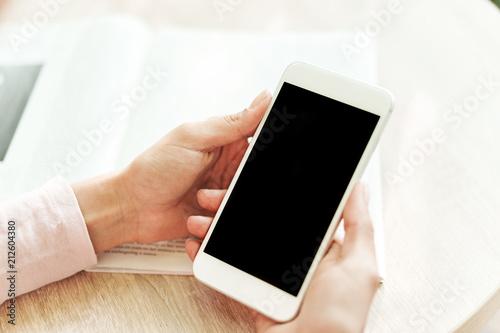 Leinwanddruck Bild Close up of female hands