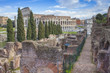 Colosseum ancient building in Rome city, Italy