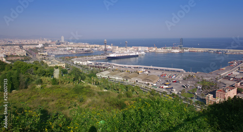 Aluminium Barcelona Barcelona cityscape view in Spain