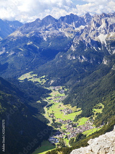Village in Dolomites