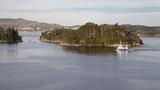 Sailing at Boknafjorden, Norway, from a cruise ship - 212609147