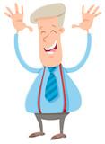 happy businessman cartoon character - 212619342