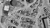 Old cars wreckage gathered in a park, aerial view - 212621506