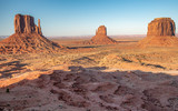 Monument Valley Buttes at sunset, USA - 212625315
