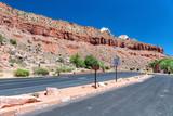 Colorful landscape and mountains, Zion National Park entrance road - 212625771