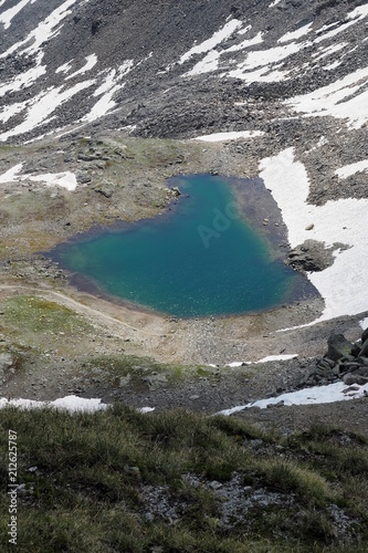 Aluminium Grijze traf. Südtiroler Alpen