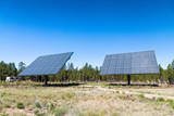 Giant solar panels in mountain scenario - 212627500