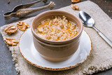 matsoni with honey and nuts - 212632578