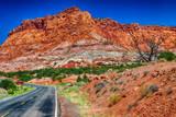 Capitol Reef rocks and road, Utah - 212633971