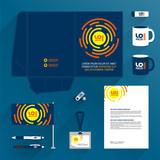 Folder template. Flat design - 212636137