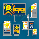 Outdoor advertising design. Flat style - 212636329