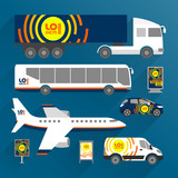 Transport advertising template. Flat style - 212636385