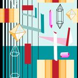 Seamless beautiful geometric pattern - 212636734