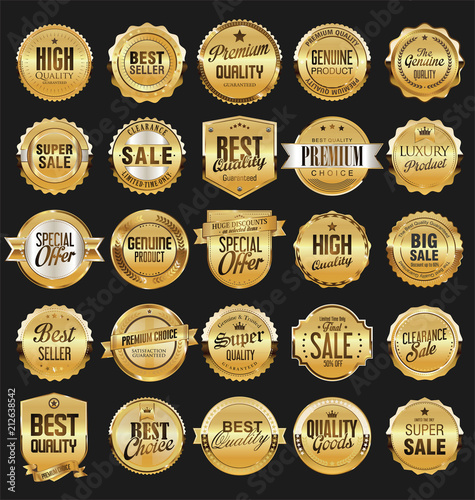 Retro vintage badges collection - 212638542