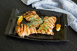 Grilled Chicken in Cast Iron Pan with Squash Blossoms - 212641958