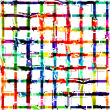 Grunge art color painting square shapes background. - 212659102
