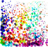 Abstract colorful bubbles background. Ideal for healthy lifestyle or relaxing concept background works. - 212659193