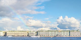 Palace quay and Hermitage panoramic view with rainbow over it - 212661324