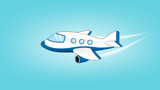 Airplane jet illustration