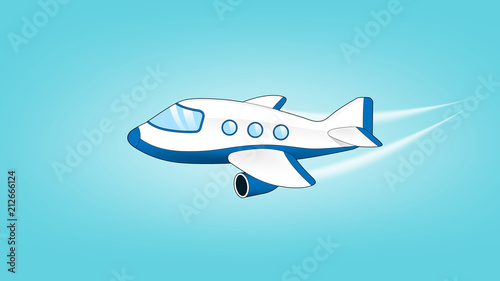 Fototapeta Airplane jet illustration