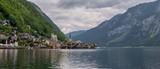 Lake in famous austrian town Hallstatt. - 212667751