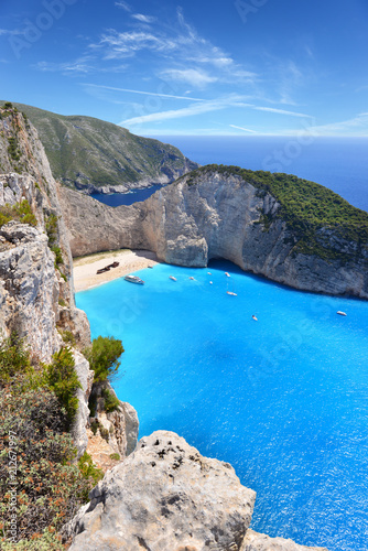 Aluminium Schipbreuk Navagio Beach on Zakynthos Island in Greece