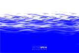 Vector backgroud. Realistic water surface illustration. - 212676301