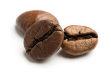 close up of dark roasted fair trade coffee beans - 212676581