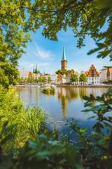 Hanseatic city of Lübeck in summer, Schleswig-Holstein, Germany