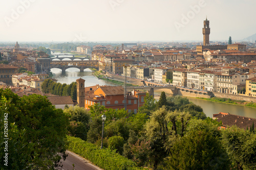 Poster Florence and the Arno river
