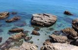 Nice rocks in beach photo - 212686386