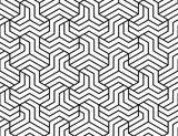 Abstract geometric pattern with stripes, lines. Seamless vector background. White and black ornament. Simple lattice graphic design - 212696973