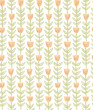 hand drawn doodle floral seamless pattern - 212703569