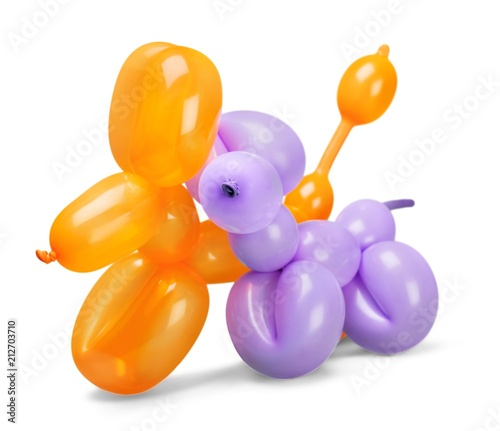 Toy of balloons isolated on white background