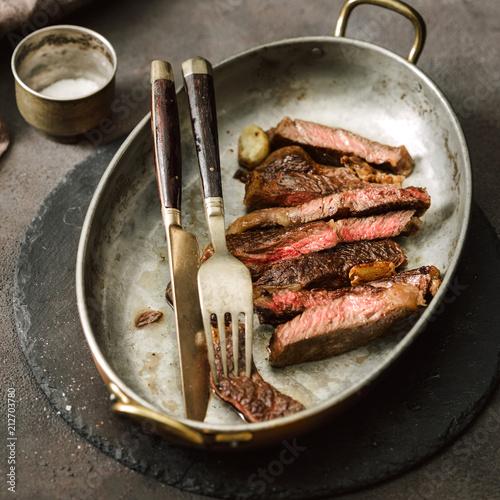 Aluminium Steakhouse Slices roast beef steak vintage frying pan
