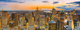 Night view of Manhattan from the skyscraper's observation deck. New York. - 212704704