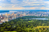 View of Central Park in Manhattan from the skyscraper's observation deck. New York. - 212704706