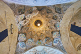 The stellar dome in Kerman Grand Bazaar, Iran