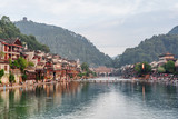 Amazing view of Phoenix Ancient Town and the Tuojiang River