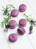 french macarons with lavender flavor - 212712923
