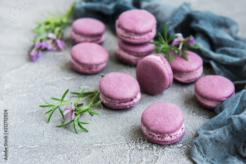 Fototapeta french macarons with lavender flavor
