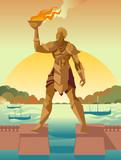 rhodes colossus statue - 212714394