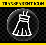 broom vector circle transparent icon - 212715765