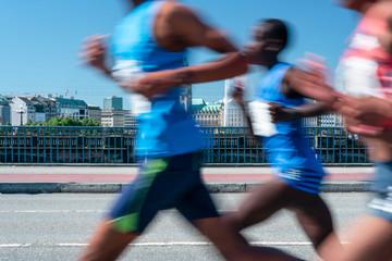 Marathonläufer beim Wettkampf