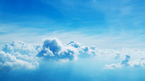Above the clouds. Beautiful above sky panoramic view - 212722379