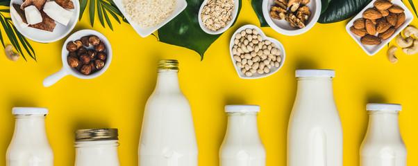 dairy free milk substitute drinks and ingredients © Natalia Klenova