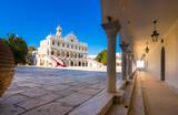 The famous church of Panagia Megalochari Evangelistria, Tinos island, Cyclades, Greece. - 212746501