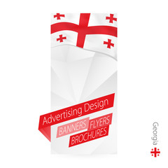 Vector abstract banner template for Georgia.