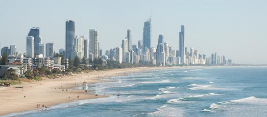Panoramic view of Surfers Paradise beachfront, Gold Coast, Australia © Steven